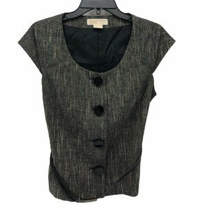 Michael Kors Women's Blazer Black Belted Button 10